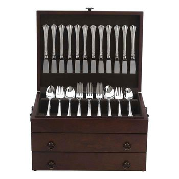 Bristol Grande  Flatware Chest, Mahogany