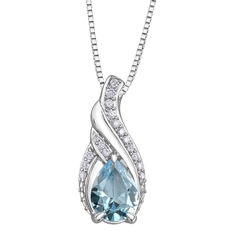 Timeless Beauty Sky Blue Topaz Pendant