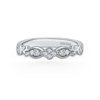 Floral Clover Diamond Wedding Band