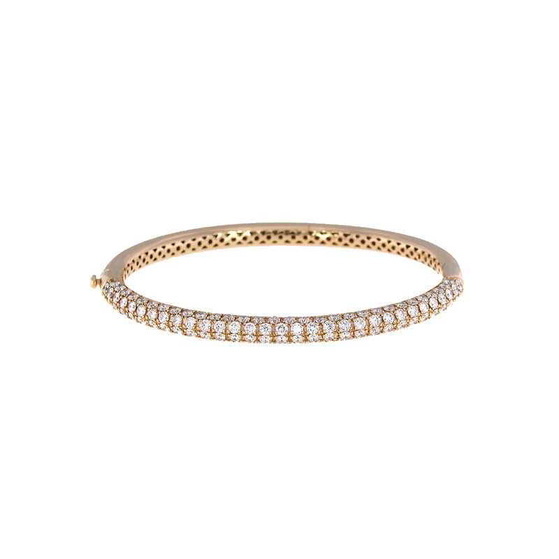 Roberto Coin  #25910 Of 18Kt Gold Bangle With Diamonds