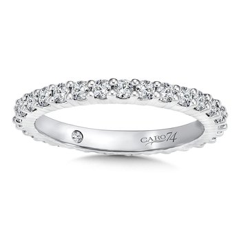 CARO 74 Eternity Band (Size 6.5) in 14K White Gold (0.91ct. tw.)
