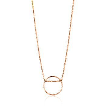 Twist Chain Circle Necklace