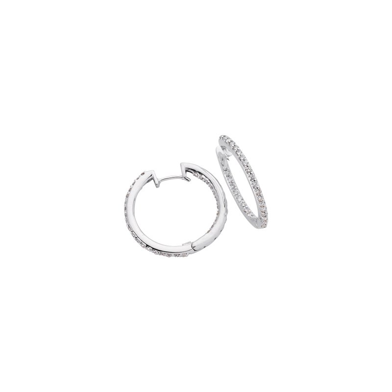 Briana Diamond Hoop Earring 1.0 Inch