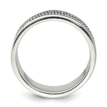 Sterling Silver Rope Design Ring