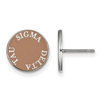 Sterling Silver Sigma Delta Tau Greek Life Earrings