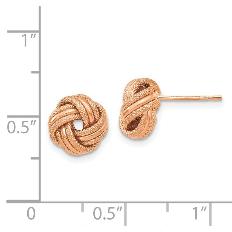 Leslie's Leslie's 14K Rose Gold Knot Polished D/C Post Earrings