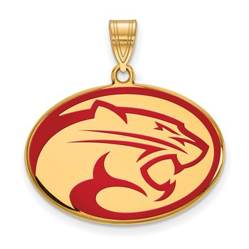 Gold-Plated Sterling Silver University of Houston NCAA Pendant