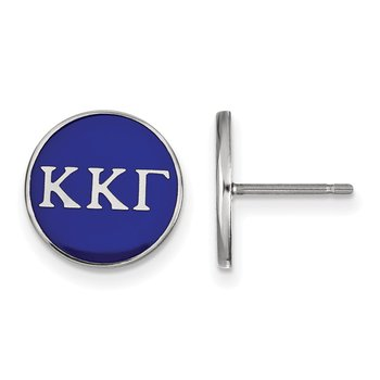 Sterling Silver Kappa Kappa Gamma Greek Life Earrings