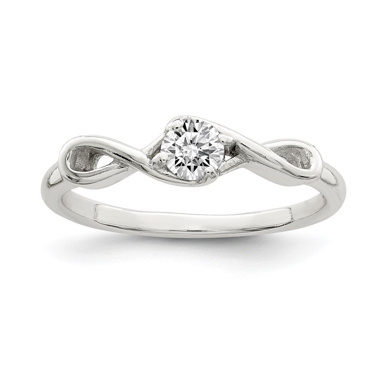 Quality Gold Sterling Silver CZ Ring