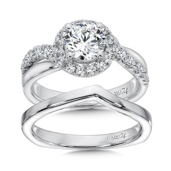 Prong Set Round Diamond Wedding Band