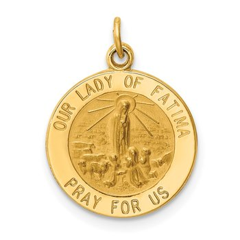 14k Our Lady of Fatima Medal Charm