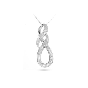 925 SS & Diamond Fashion Pendant