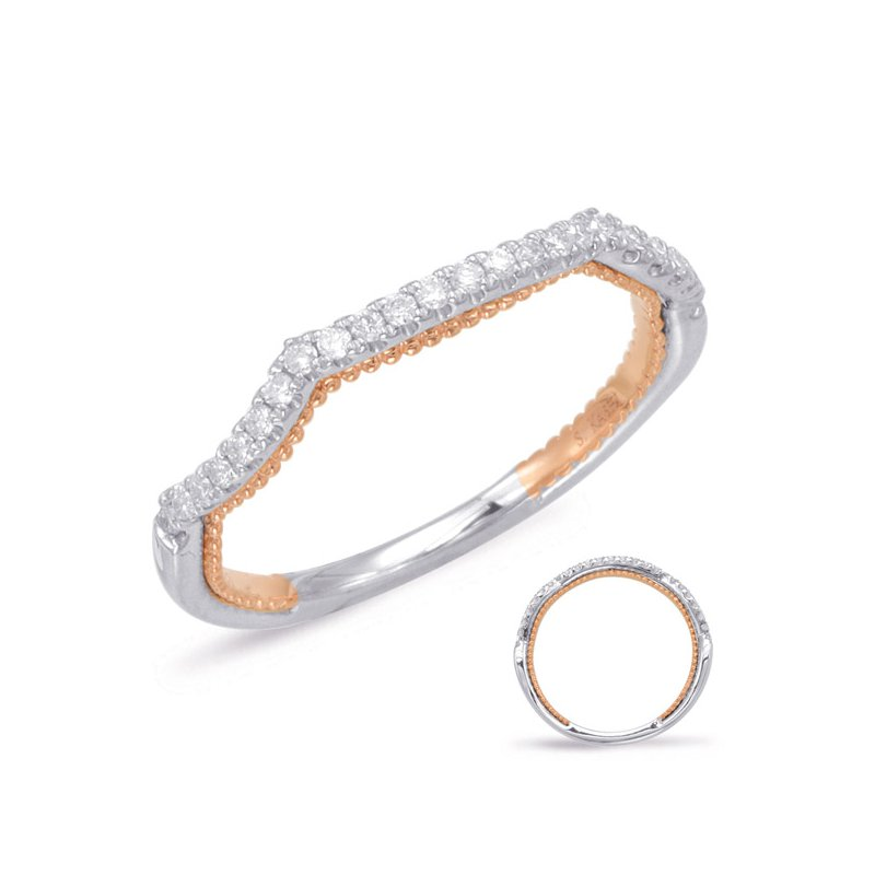 S. Kashi & Sons Bridal Rose & White Gold Matching Band