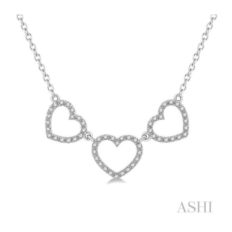 Barclay's Signature Collection TRI HEART SHAPE DIAMOND NECKLACE