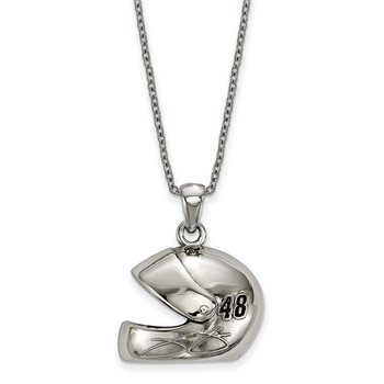 Stainless Steel 48 Jimmie Johnson NASCAR Necklace