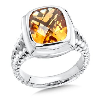 Sterling Silver Citrine Essentials Ring