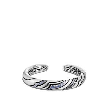 Lahar 9MM Kick Cuff in Silver with Gemstone