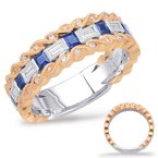 S. Kashi  & Sons Rose & White Gold Sapphire & Diamond Rin