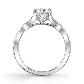 MARS 26247 Diamond Engagement Ring 0.20 Ctw.