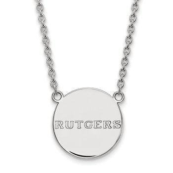 Sterling Silver Rutgers University NCAA Pendant