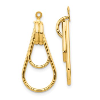 14k Polished Double Teardrop Earring Jackets