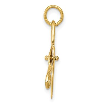 14k 3D Moveable Scissors Charm