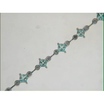 Aquamarine./diamond Bracelet