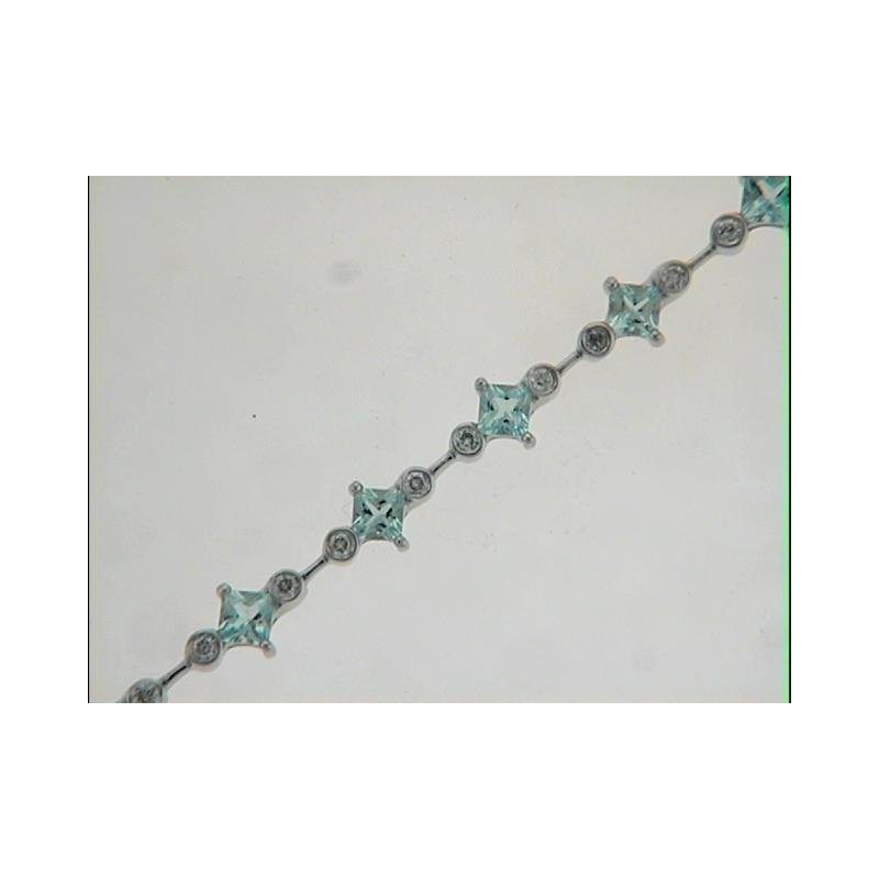 S. Kashi  & Sons Aquamarine./diamond Bracelet
