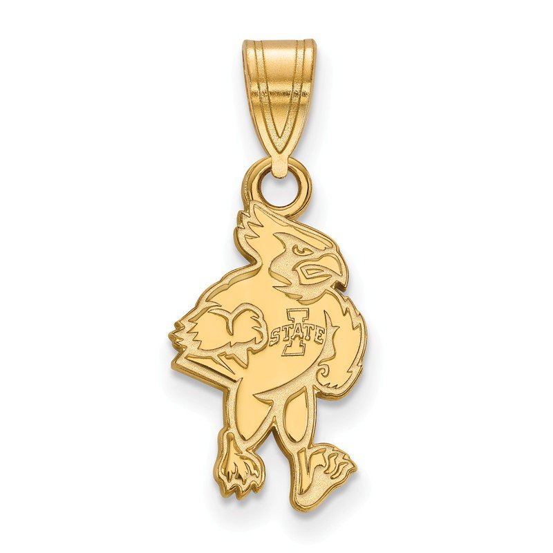 NCAA Gold-Plated Sterling Silver Iowa State University NCAA Pendant