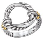 Eleganza Ladies Fashion Two-Tone Ring