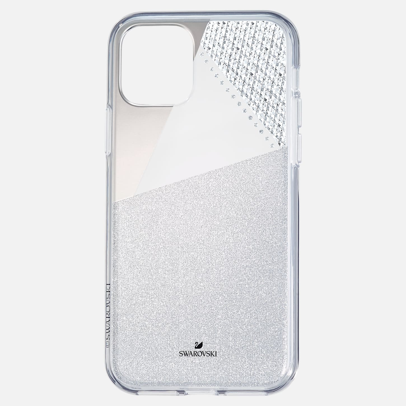 Swarovski Subtle Smartphone Case with Bumper, iPhone® 11 Pro, Silver tone