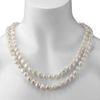 Endless Style Baroque Freshwater Pearl Strand Necklace
