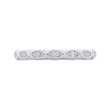18K White Gold Marquise Diamond Wedding Band