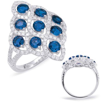 Saphhire & Diamond Fashion Ring