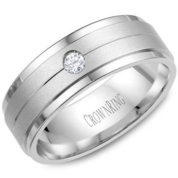 CrownRing Men's Wedding Band WB-7108