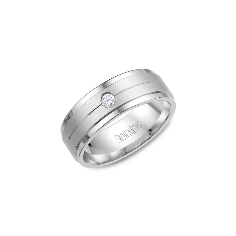 CrownRing CrownRing Men's Wedding Band WB-7108