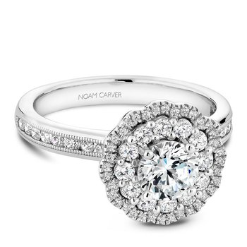 Noam Carver Floral Engagement Ring B145-16A