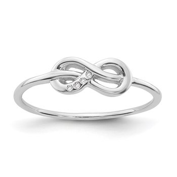 SS White Ice Infinity Diamond Ring