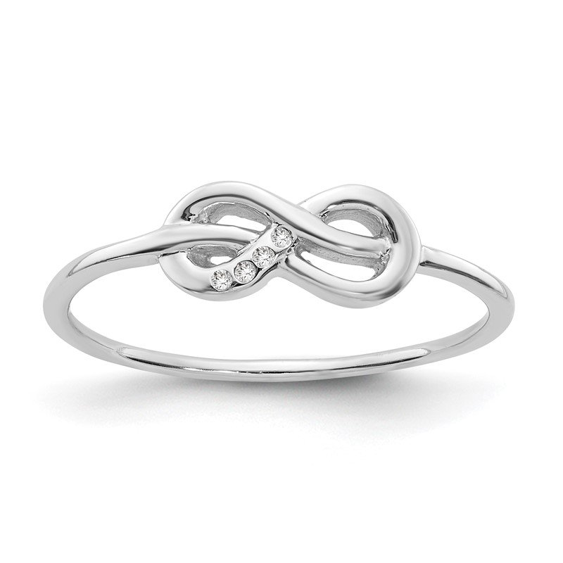 Quality Gold SS White Ice Infinity Diamond Ring
