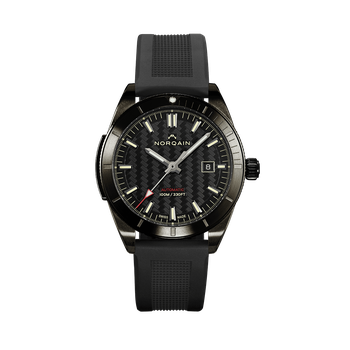 Adventure Sport - DLC Black On Rubber Strap Watch