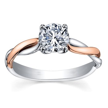 Maple Leaf Diamond Eternal Flames Ladies Solitaire