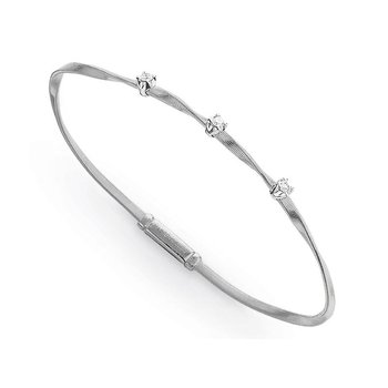 Marrakech White Gold & Diamond Stackable Bangle