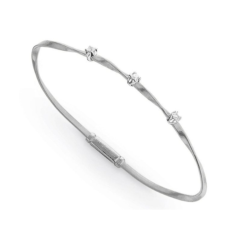 Marco Bicego Marrakech White Gold & Diamond Stackable Bangle