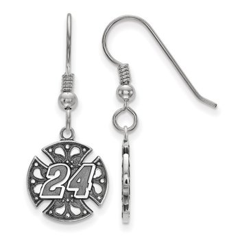 Sterling Silver 24 Jeff Gordon NASCAR Earrings