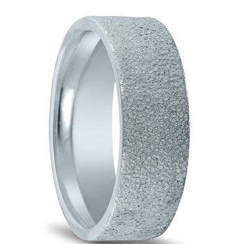 N17227 - Men's Wedding Band with Organic Finish