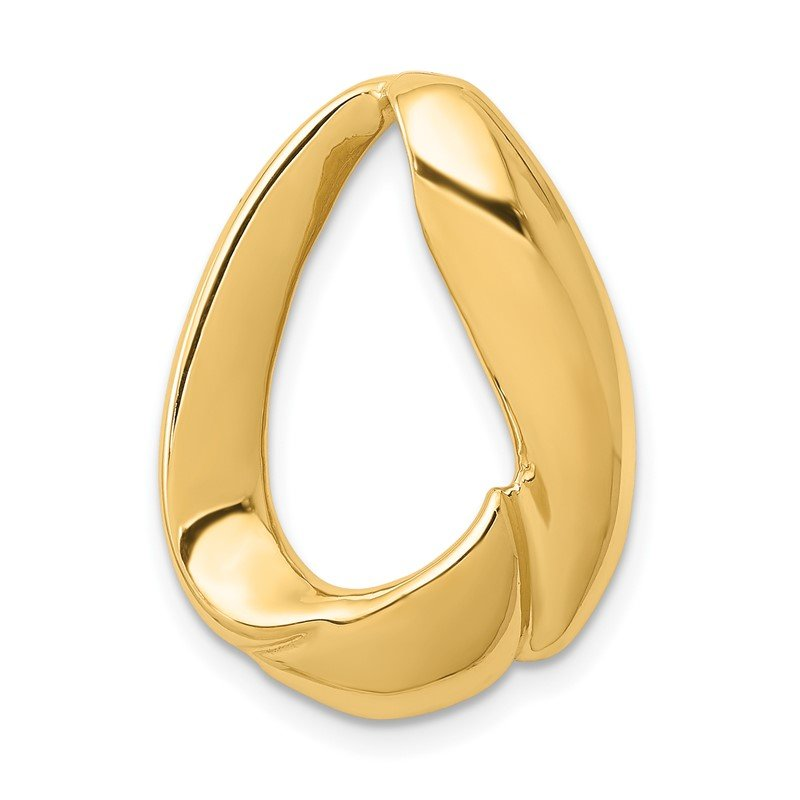 Quality Gold 14k Oval Slide
