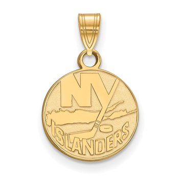 Gold-Plated Sterling Silver New York Islanders NHL Pendant