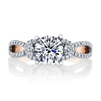 MARS 26088 Diamond Engagement Ring, 0.55 Ctw.