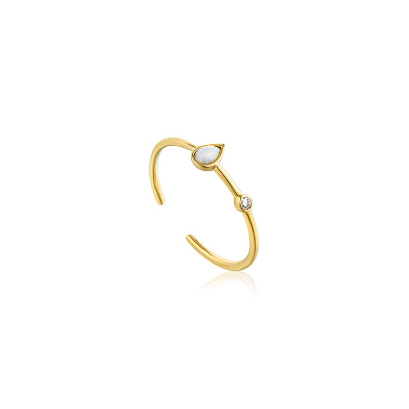 Ania Haie Opal Colour Raindrop Adjustable Ring