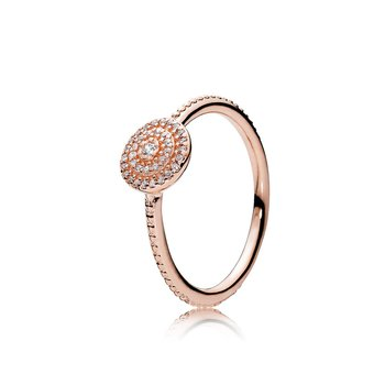 Radiant Elegance Ring, Pandora Rose™ Clear Cz